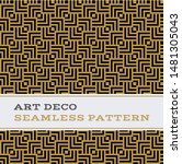 art deco seamless pattern with... | Shutterstock . vector #1481305043