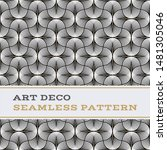 art deco seamless pattern with... | Shutterstock . vector #1481305046