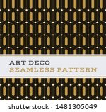 art deco seamless pattern with... | Shutterstock . vector #1481305049