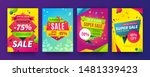 banner sale poster. promotion... | Shutterstock .eps vector #1481339423