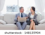 workmates working together... | Shutterstock . vector #148135904