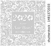 happy new year 2020.... | Shutterstock . vector #1481372033