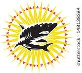 illustration of a shark... | Shutterstock . vector #148138364
