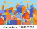 vector illustration of city... | Shutterstock .eps vector #1481387330