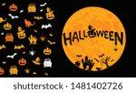 halloween symbols hand drawn... | Shutterstock .eps vector #1481402726