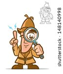 agent,answer,cartoon,character,clues,coat,comic,crime,crime solving,detective,detective hat,discover,eye,finding,hat
