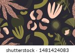 modern exotic pattern with... | Shutterstock .eps vector #1481424083