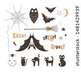 Halloween Creatures Flat Vecto...