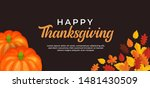 happy thanksgiving day text... | Shutterstock .eps vector #1481430509