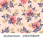 abstract seamless pattern with... | Shutterstock .eps vector #1481458649