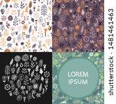 modern seamless patterns set... | Shutterstock .eps vector #1481461463