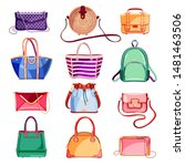 female fashion elegant bags and ... | Shutterstock .eps vector #1481463506