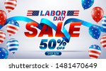 labor day sale poster.usa labor ... | Shutterstock .eps vector #1481470649