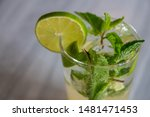 refreshing lemon juice with... | Shutterstock . vector #1481471453