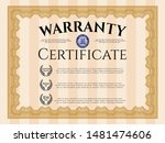 orange formal warranty... | Shutterstock .eps vector #1481474606
