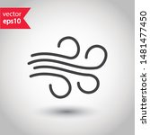 wind icon. wind flow vector... | Shutterstock .eps vector #1481477450