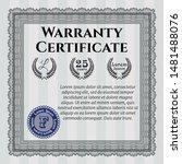 grey retro vintage warranty... | Shutterstock .eps vector #1481488076