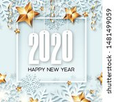 abstract new year 2020 banner... | Shutterstock .eps vector #1481499059