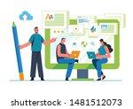 engaging content  blogging ... | Shutterstock .eps vector #1481512073
