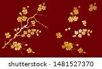 branch of cherry blossom for... | Shutterstock .eps vector #1481527370