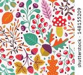 autumn seamless pattern | Shutterstock .eps vector #148155209