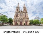 Architectural scenery of the Sacred Heart Cathedral in Shishi Guangzhou Guangdong China