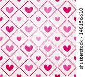 valentine seamless hearts... | Shutterstock .eps vector #148156610