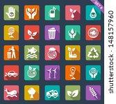 ecology icon set   flat design