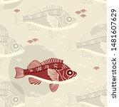seamless vectorpastel pattern... | Shutterstock .eps vector #1481607629