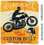 Vector Old School Race Poster.