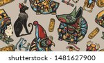 ancient egypt seamless pattern. ... | Shutterstock .eps vector #1481627900