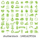 ecological icon set  green... | Shutterstock .eps vector #1481629526