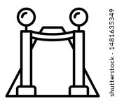 vip fence icon. outline vip... | Shutterstock .eps vector #1481635349