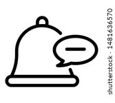 bell and chat bubble icon....