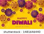 diwali festival of lights... | Shutterstock .eps vector #1481646440
