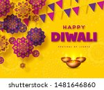 diwali festival of lights... | Shutterstock .eps vector #1481646860