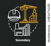 secondary chalk concept icon.... | Shutterstock .eps vector #1481674100