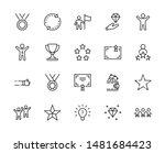 set of success related vector... | Shutterstock .eps vector #1481684423