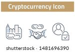 collection of cryptocurrency... | Shutterstock .eps vector #1481696390