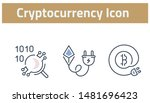 collection of cryptocurrency... | Shutterstock .eps vector #1481696423