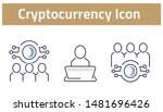 collection of cryptocurrency... | Shutterstock .eps vector #1481696426