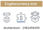 collection of cryptocurrency... | Shutterstock .eps vector #1481696450
