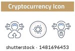 collection of cryptocurrency... | Shutterstock .eps vector #1481696453