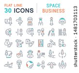 set of vector line icons of...   Shutterstock .eps vector #1481703113