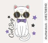 Cute Cat Boy With Glittering...
