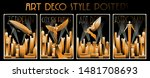 art deco style posters ...   Shutterstock .eps vector #1481708693