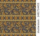 ethnic seamless patterns ...   Shutterstock .eps vector #1481714453