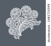 lace flowers decoration element ... | Shutterstock .eps vector #1481715599
