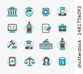 law   justice icon set | Shutterstock .eps vector #1481756093
