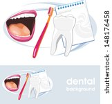 dental concept. icon and banner ...